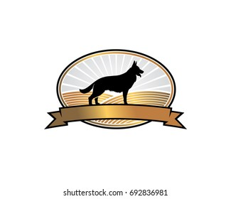k9 dog german sheperd training center logo