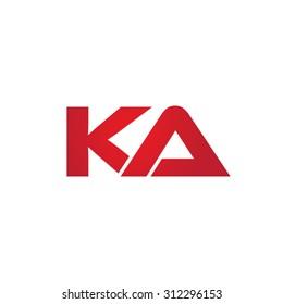 KA company linked letter logo