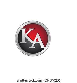 KA initial circle logo red