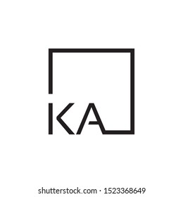 KA initial letter logo template vector icon design