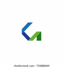 KA Initial Letter Logo Vector