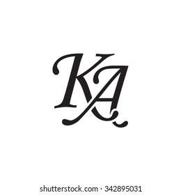 KA initial monogram logo