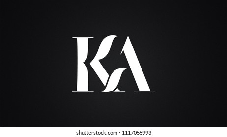 KA Letter Logo Design Template Vector