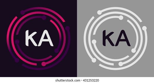KA letters business logo icon design