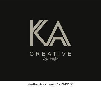 KA Logo. Letter design vector