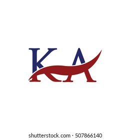 KA Swoosh Logo Vector