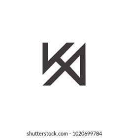 ka za letter logo inspirations