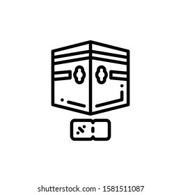 Kaaba Arab Icon Outline Vector. Holiday Sale Icons. Online Shop Ikon.