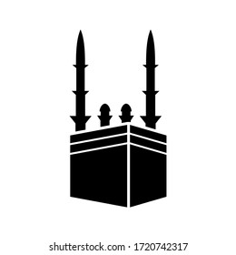 Kaaba icon or logo isolated sign symbol vector illustration - high quality black style vector icons