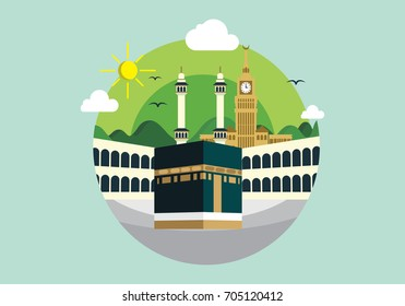Kaaba and Mecca Clock Tower
