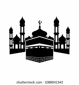 Kaaba in mecca Saudi Arabia vector symbol