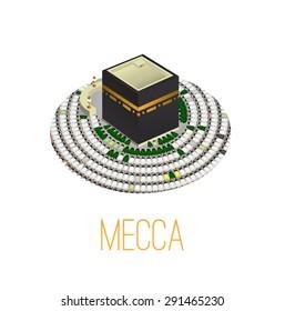 Kaaba in oval
