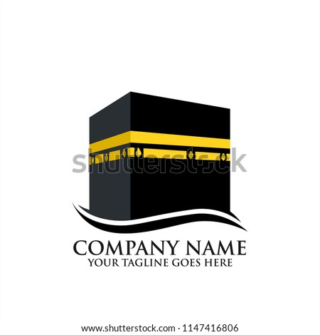 Kaabah Vector Icon Mecca Kabah Vector Stock Vector Royalty Free