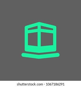 Kaba monoline icon for moeslim vector download