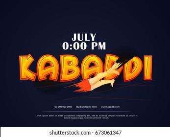 Kabaddi Championship Poster Or Banner Background.