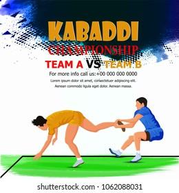 Kabaddi ( Playing kabaddi )