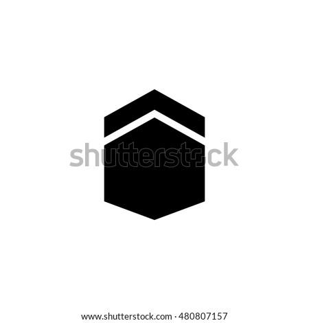 Kabah Kaaba Hajj Logo Vector Stock Vector Royalty Free 480807157