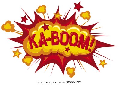 ka-boom comic book element