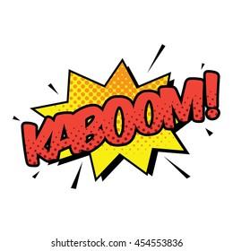Kaboom Comic Speech Bubbles