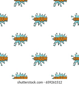 Kaboom, comic text sound effect pattern seamless for any design vector illustration