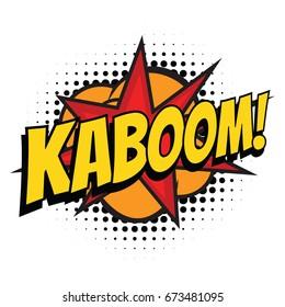 kaboom comic word. Pop art retro vector illustration
