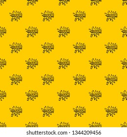 Kaboom, explosion pattern seamless vector repeat geometric yellow for any design