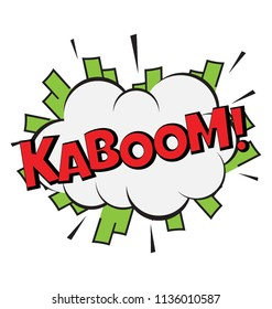 Kaboom sound visual used to show the expression of loud explosion
