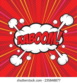 KABOOM! wording sound effect set design for comic background, comic strip