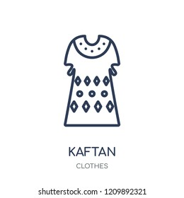 Kaftan icon. Kaftan linear symbol design from Clothes collection. Simple outline element vector illustration on white background.
