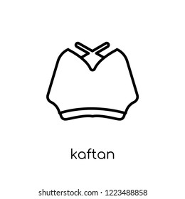 kaftan icon. Trendy modern flat linear vector kaftan icon on white background from thin line Kaftan collection, outline vector illustration
