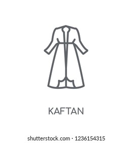 Kaftan linear icon. Modern outline Kaftan logo concept on white background from Clothes collection. Suitable for use on web apps, mobile apps and print media.