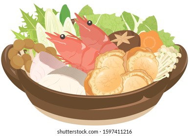 Kaisen-nabe : Seafood hotpot  of Japanese food