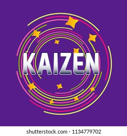 kaizen, beautiful label, background or sign with summer night party theme or holidays. vector design