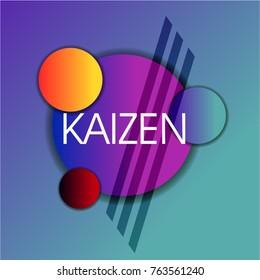 Kaizen has mean spirit of japan, Beautiful greeting card poster