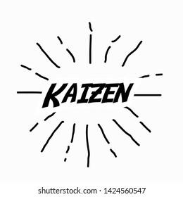 kaizen japanese spirit, beautiful background with sunburst theme