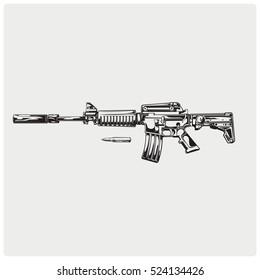 Kalashnikov AK-47 machine gun