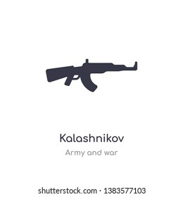 kalashnikov icon. isolated kalashnikov icon vector illustration from army and war collection. editable sing symbol can be use for web site and mobile app