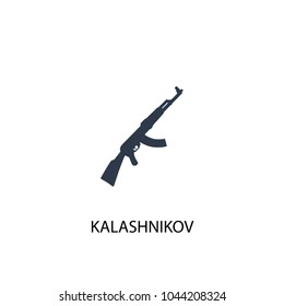 Kalashnikov icon. Simple element illustration. Kalashnikov concept symbol design from Russia collection. Can be used for web and mobile.
