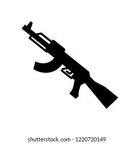 Kalashnikov icon. Trendy Kalashnikov logo concept on white background from army and war collection. Suitable for use on web apps, mobile apps and print media.