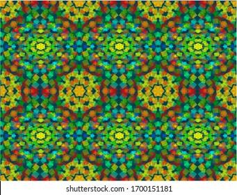 Kaleidoscope background. seamless abstract vector illustration