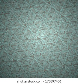 Kaleidoscope geometric brown pattern. Abstract vector background. Vector illustration. Eps 10