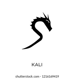 Kali icon. Kali symbol design from India collection. Simple element vector illustration on white background.