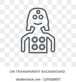 Kali icon. Trendy flat vector Kali icon on transparent background from india collection. High quality filled Kali symbol use for web and mobile