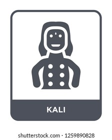 kali icon vector on white background, kali trendy filled icons from India and holi collection, kali simple element illustration, kali simple element illustration