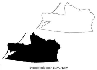 Kaliningrad Oblast (Russia, Subjects of the Russian Federation, Oblasts of Russia) map vector illustration, scribble sketch Kaliningrad Region map