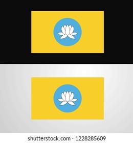Kalmykia Flag banner design