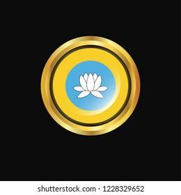 Kalmykia flag Golden button