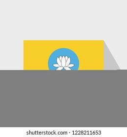 Kalmykia flag Long Shadow design vector