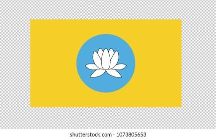 Kalmykia flag on transparent background. Kalmykia flag Template for independence day. vector illustration