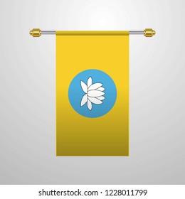 Kalmykia hanging Flag